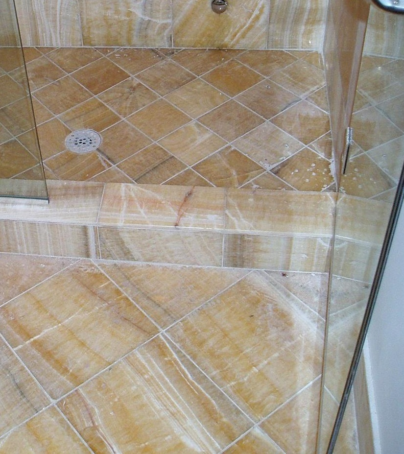 Marble shower floor gurus floor for How to clean a marble shower