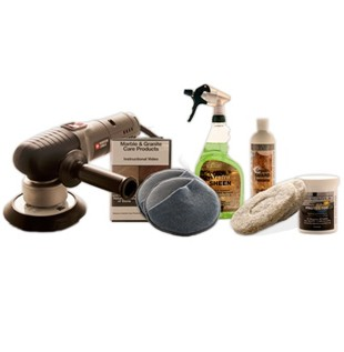 Deluxe Granite Countertop Maintenance Kit - With Buffer
