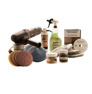 Deluxe Marble Restoration & Maintenance Kit With Buffer