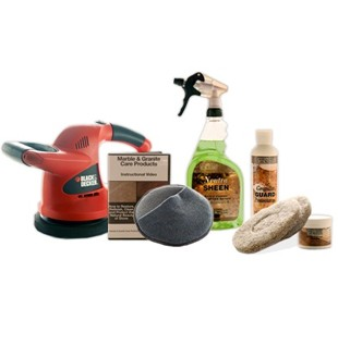 Standard Granite Countertop Maintenance Kit - With Buffer