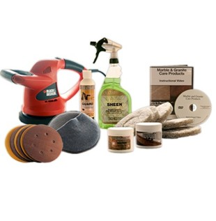 Standard Marble Restoration & Maintenance Kit With Buffer